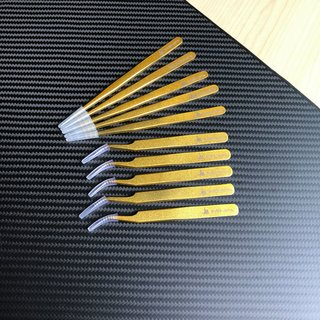 Stainless Steel High Precision Tweezers 2pcs set