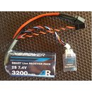 AR POWER 3200 mAh (2x1 cell) pack with optional self...